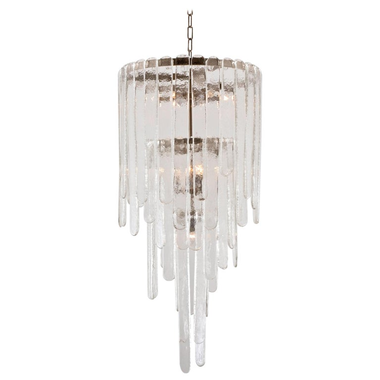 Mid-Century Modern Chandelier in Murano Glass by Carlo Nason for Mazzega, 1969