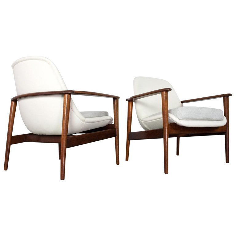 Pair of Danish Modern Teak Armchair in Style of Ib Kofod Larsen, 1950s