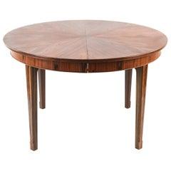 Frits Henningsen Circular Rosewood Dining Table