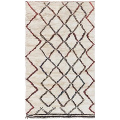 Vintage Ivory Beni Ourain Moroccan Rug