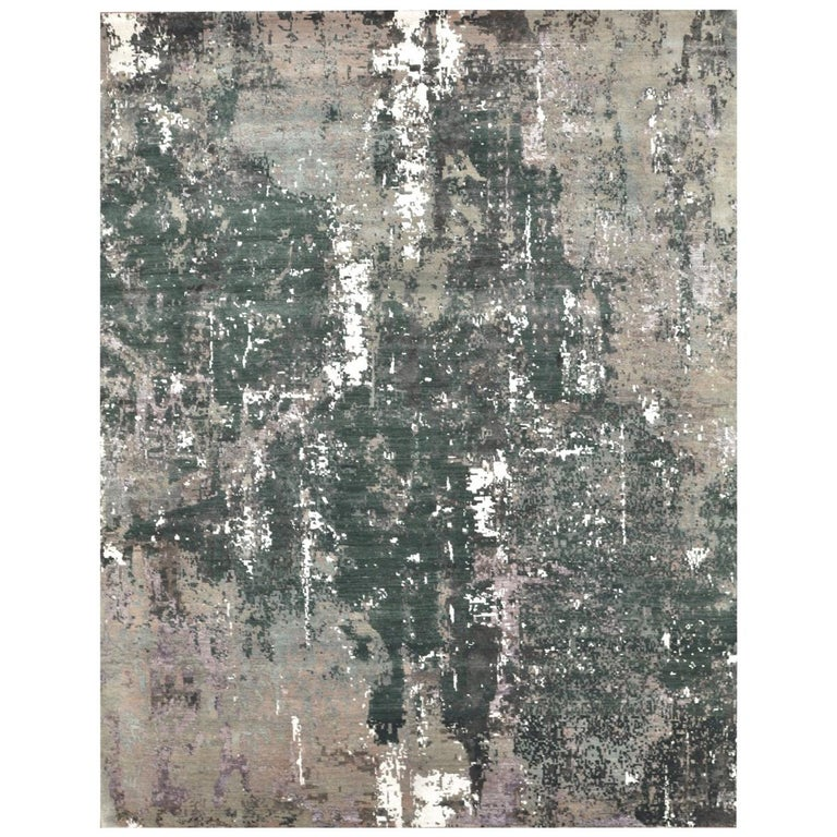 New Hand-Knotted Modern Design Rug