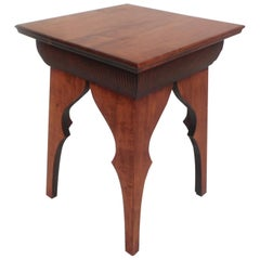 Small Mid-Century Modern Sculpted Side Table or Pedestal