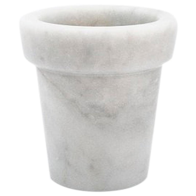 Little Vase in White Carrara Marble