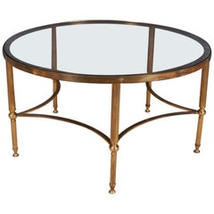 1920s Brass and Glass Low Table
