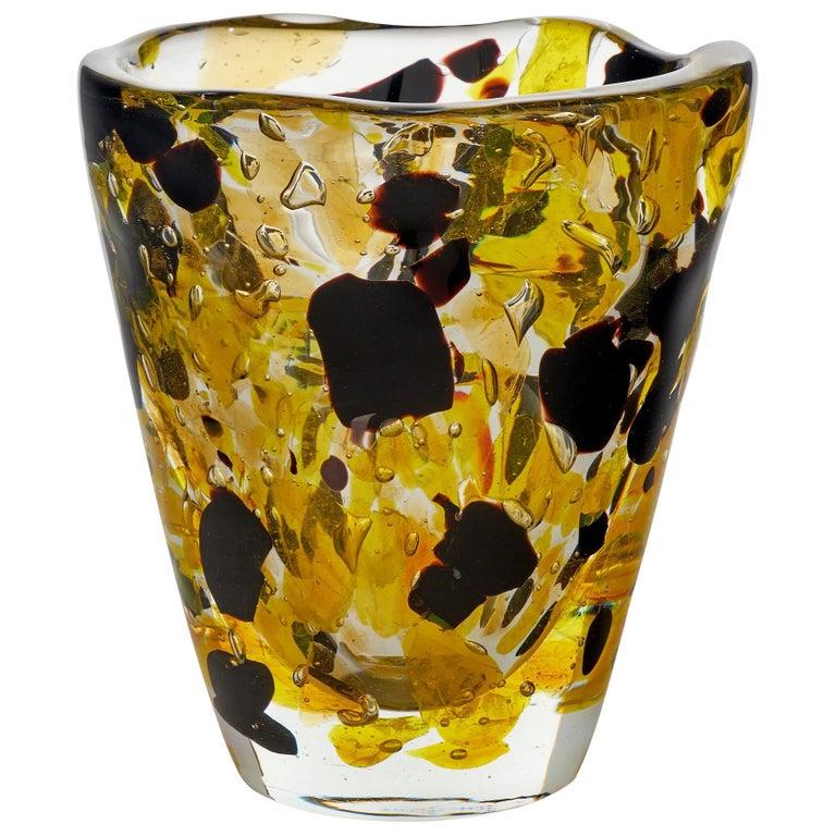 """Pollock"" Murano Glass Vase"