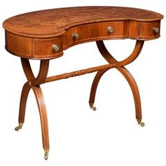 Mahogany Kidney Shaped Lady's Dressing Table
