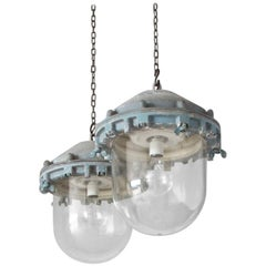Large Pair of Victor Pendant Lights