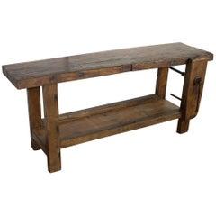 Antique Oak Workbench