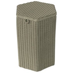 English Wicker Garden Hexagonal Linen Hamper by Lloyd Loom