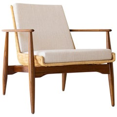 Lawrence Peabody Wicker Lounge Chair for Craft Associates Furniture