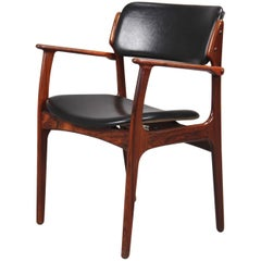 Set of Two 1960s Erik Buch Armchairs in Rosewood