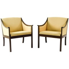 Ole Wanscher for Poul Jeppesen Pair of Mahogany Lounge Chairs
