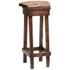 Oak & Pine Shop Stool, circa 1870