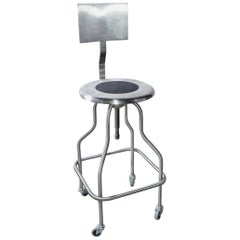 Pair of Backrest Stainless Steel Rotating Stool Saddle Chair with Ss6