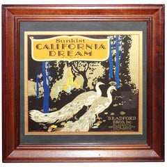 1928 Sunkist California Dream Crate Advertising Framed