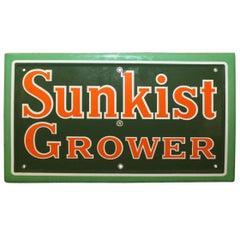 1940s Sunkist Grower Porcelain Sign