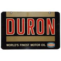 1960s Sohio Duron Motor Oil Sign