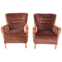 Pair of Danish 1940s Club Chairs