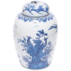 Blue and White Phoenix Tea Leaf Jar