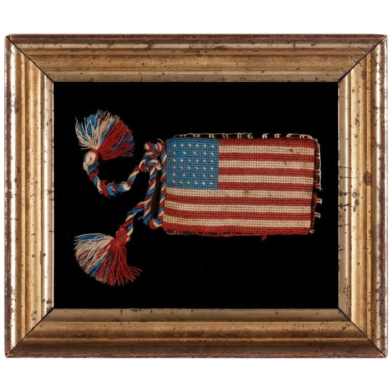 34 Star Antique American Flag Pen Wipe/Bible Flag