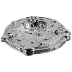 Antique American Art Nouveau Sterling Silver Cherry Bowl