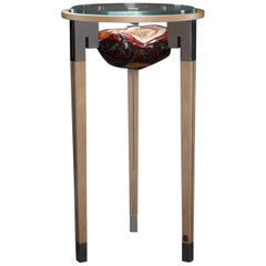 Studio Greytak 'Classic Peekaboo Table 5' Agate, Maple, & Stainless Steel