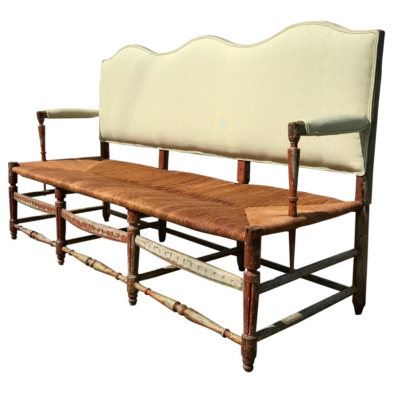 Period 18th Century French Provincial Hall Bench or Settee