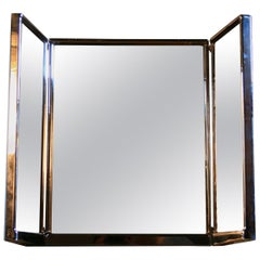 1930s Foldable Theater Mirror in Art Deco Style