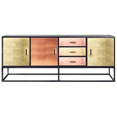 Contemporary Reykjavik Sideboard in Brass, Bronze and Copper