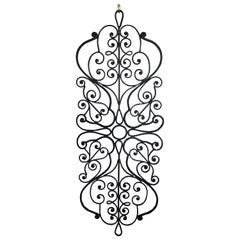 Large Hand-Wrought Iron Wall Sculpture