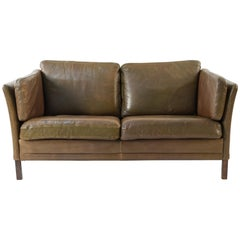 Mogens Hansen Buffalo Hide 2-Seat Sofa or Loveseat