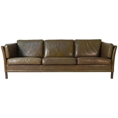 Mogens Hansen Buffalo Hide Leather 3-Seater Sofa