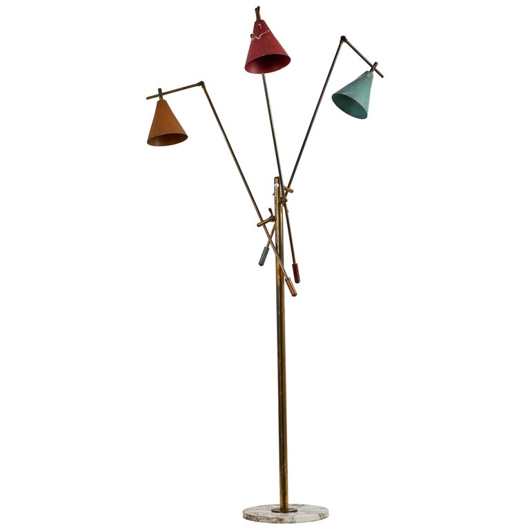 Three-Arm Floor Lamp by Stilnovo