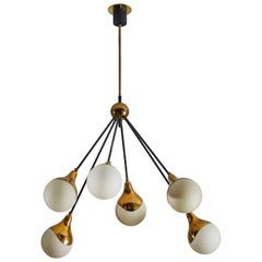 Six Globe Chandelier by Stilnovo