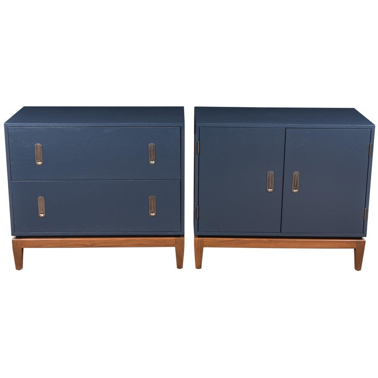 Pair of Arcadia Side Cabinets by Lawson-Fenning