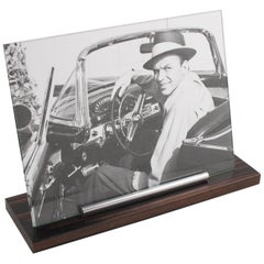 1930s Art Deco Picture Photo Frame Wood and Chrome