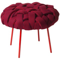 Contemporary Handwoven - Cloud Stool, Medium, Red