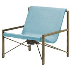 Galanter & Jones Heated Cast Stone Evia Chair, Custom Frame, Ocean