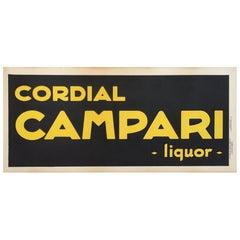 Original Vintage Alcohol Poster for Campari Liquor 1921 by Leonetto Cappiello