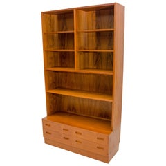 Danish Teak Bookcase and Drawer Cabinet, Poul Hundevad