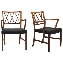 Ole Wanscher Pair of Rosewood Armchairs for A. J. Iversen