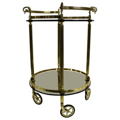 Brass Neoclassical Trolley, France, 1960s