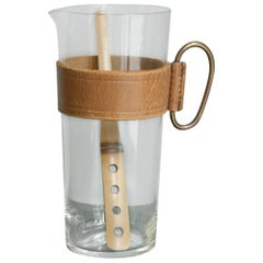 Carl Auböck Pitcher and Bamboo Stirrer
