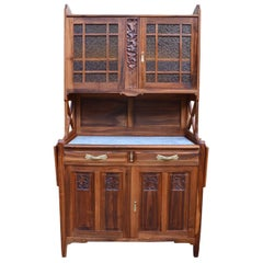 Art Nouveau Solid Cherry Wood Carved Buffet, by La Ruche, circa 1911