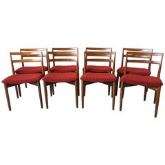 Set of Eight Harry Ostergaard Teak Danish Modern Dining Chairs