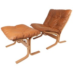 Mid-Century Modern Westnofa Lounge Chair and Ottoman