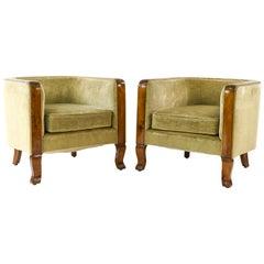 Pair of Danish Art Deco 1940s Club Chairs