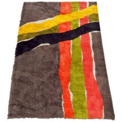 Modernist Op Pop Mod Abstract Area Rug