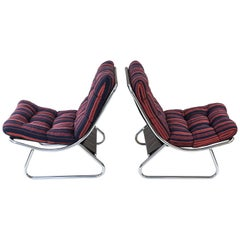 Pair of Swedish Early Ikea Lounge Chairs