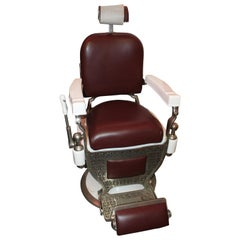 1930s Theo A. Kochs Antique Barber Chair
